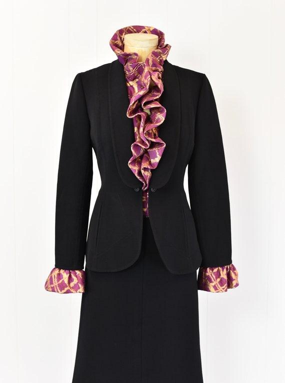 1980s Pauline Trigere Two Piece Suit - image 3