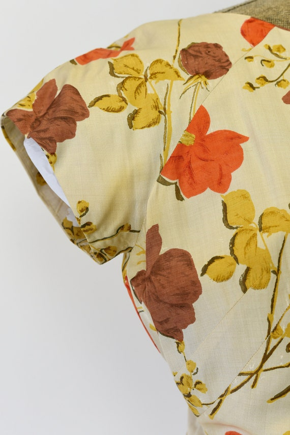 1950's Malia of Hawaii Rose Print Dress - image 9
