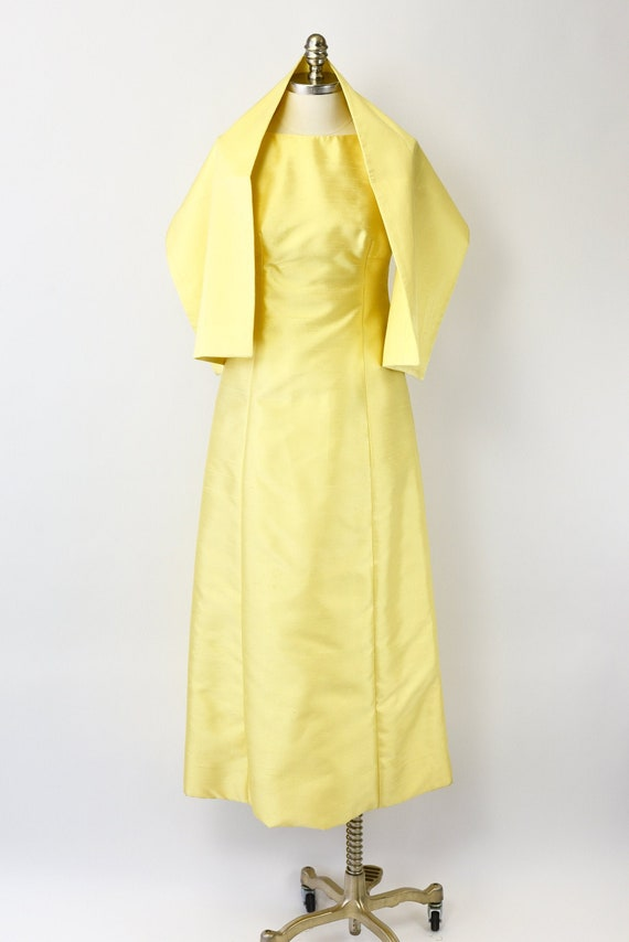1960's Malcolm Starr Yellow Gown & Wrap