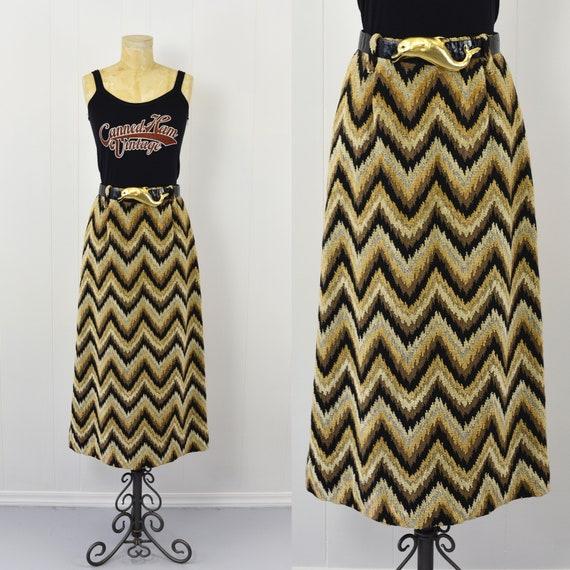 1970's Chevron Tapestry Skirt