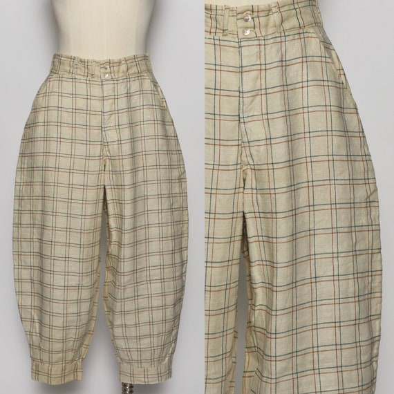 1930's/1940's Plaid Jodhpur Pants - image 1