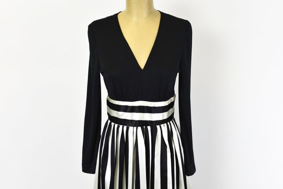 1970s Victor Costa Striped Dress Gown - image 3