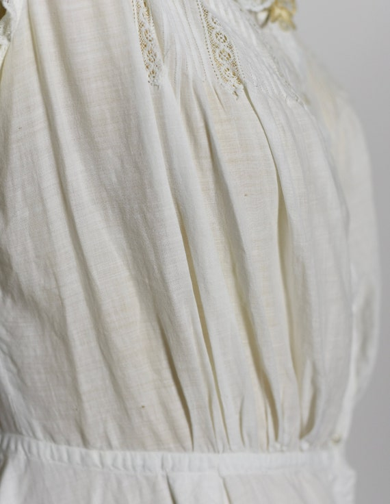 Antique Edwardian 1900's White Cotton Dress/Under… - image 9