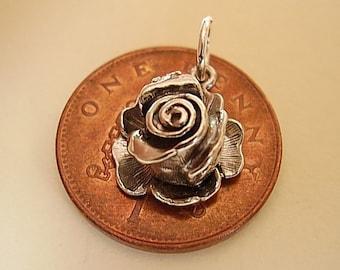 Sterling Silver Rose Ladybird Ladybug Charm