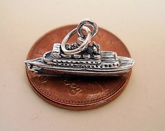 Sterling Silver CRUISE LINER SHIP charm