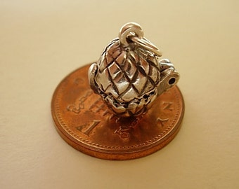 Sterling Silver Chicken In Easter Egg Charm
