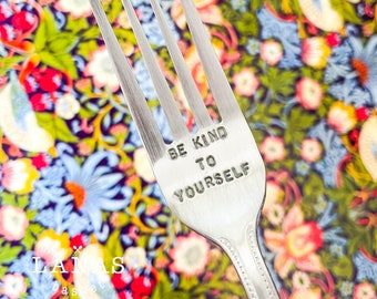 SECONDS    Be Kind To Yourself    Fork    Eating Disorder/Mental Illness Recovery Gift