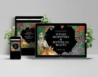 DIGITAL DOWNLOAD - English And Welsh - Monsters & Mythical Beasts - Book - Dragons - Mythology - Wales - Fantastic
