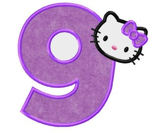 Hello kitty applique etsy