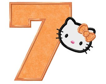 Hello kitty character applique apron sanrio hello kitty anime