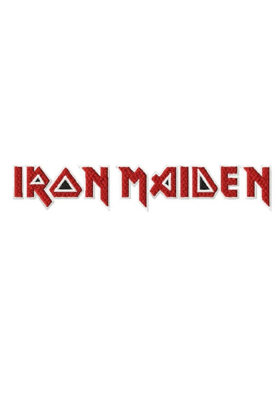 Iron Maiden Logo 3 Sizes Solid Fill Machine Embroidery DESIGN