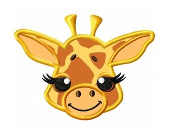 Applique Machine Embroidery DESIGN NO. 385.....Giraffe Face