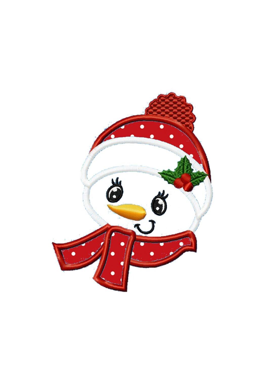 Weihnachts-Schneemann... Sofort-Download... Maschinenstickerei | Etsy