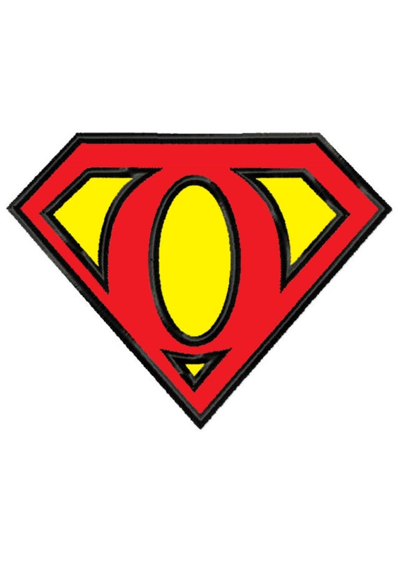 Superman Letter O...Applique Machine Embroidery DESIGN NO ...