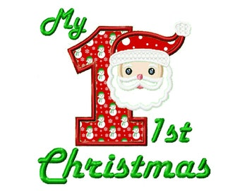 1st Christmas...Instant Download... Applique Machine Embroidery DESIGN NO. 732