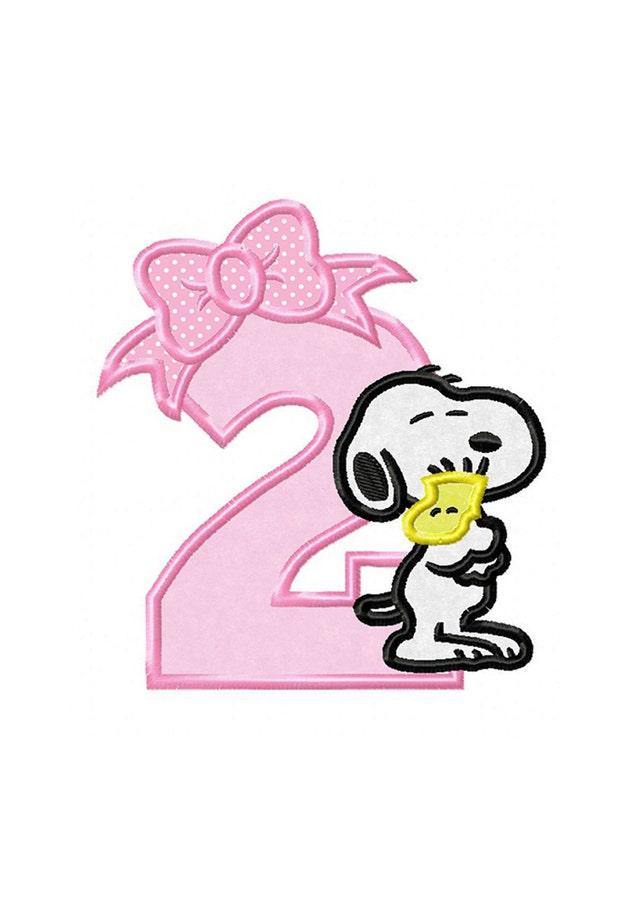 2 º cumpleaños Snoopy... Descarga inmediata... Máquina de | Etsy