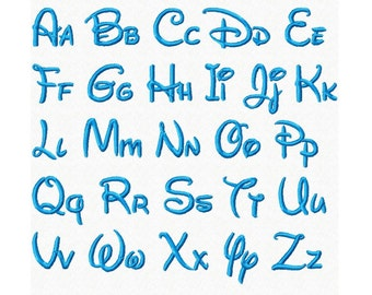 Disney Font...BX Format...Instant Download...Machine Embroidery DESIGN NO. 705