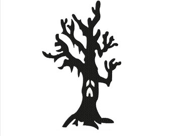 Halloween Ol Man Tree Fill Machine Embroidery DESIGN NO. 236
