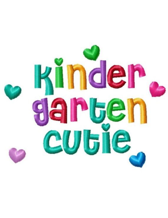 Kindergarten Quotes Kindergarten Cutie..Quotes Machine Embroidery DESIGN NO. | Etsy Kindergarten Quotes