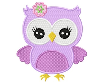 Cute Owl...Instant Download...Pattern Fill Machine Embroidery DESIGN NO. 845