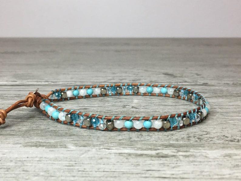 boho anklet summer jewelry blue /& moonstone boho jewelry beaded anklet Ankle bracelet Anklet beach jewelry beach anklet