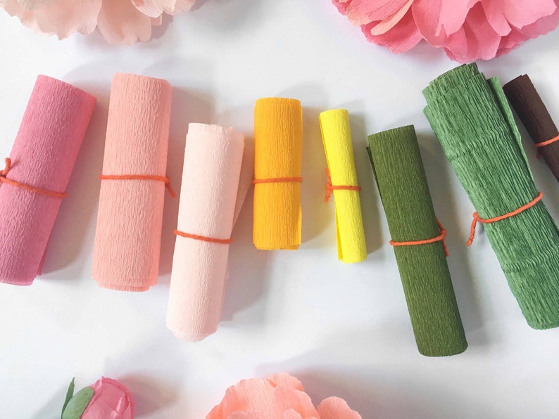 Kit Of Crepe Paper For The Online Peony Class With A Petal Unfolds