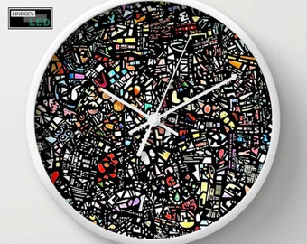 Assorted Shapes Wall Clock