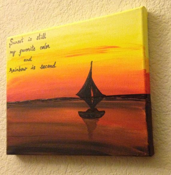 Coucher De Soleil Art Coucher De Soleil Citations Citations Toile Toile Devis Peinture Colorée D Art Océan Décor Nature Peinture Acrylique Peinture