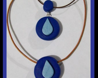 Water! - Polymer Clay Necklace