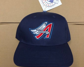 3430938f Vintage NWT deadstock LA Angels snapback hat cap Los Angeles anaheim 90s mlb  80s World Series ds