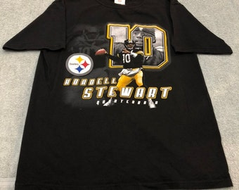 vintage 90s Pittsburgh Steelers kordell stewart tee shirt jersey size l  large football nfl qb club 42bacbac5