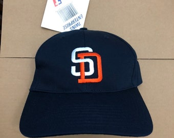 074f0ff3228 Vtg deadstock San Diego Padres snapback hat cap MLB 90s 80s ds nwt vintage  gwynn great fit SD snap back