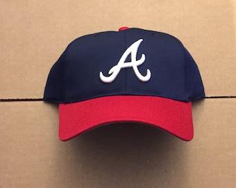 4424e7bbc1f Vintage deadstock Atlanta Braves snapback dad hat cap 90s jersey logo mlb  atl baseball