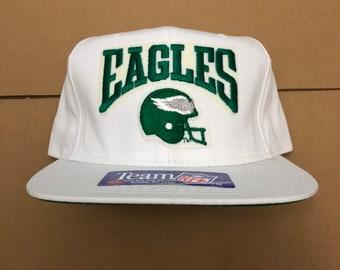a3d4b270528a60 Vintage deadstock Philadelphia eagles snapback hat cap 90s jersey logo nfl  80s 76ers phillies new era wentz super bowl