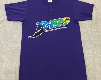 92cfde86 Vtg Tampa Bay Devil Rays tee shirt jersey henley MLB 90s vintage TB m medium
