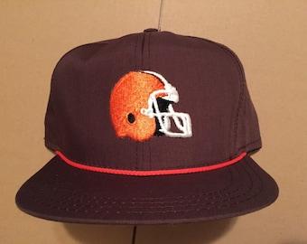24c01778e Vintage deadstock Cleveland Browns snapback hat cap 90s jersey logo cavs  nwt nfl 80s kosar