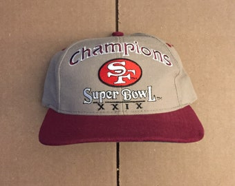 1e7d44e21 Vintage deadstock San Francisco 49ers snapback hat cap super bowl xxix 29  90s jersey giants logo SF niners 9ers metallic steve young rice sb