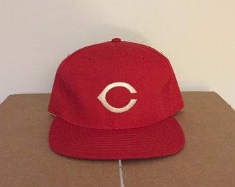 6e880041398 vintage deadstock Cincinnati Reds snapback hat mlb 80s 90s baseball cap  bengals new era made in usa ball vtg