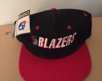 b15f8d799e5 vtg deadstock porland trailblazers blazers denim snapback hat cap 90s  jersey logo NBA NWT