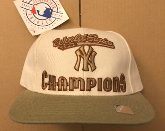 f08c49a0d Vintage deadstock New York yankees snapback hat 1998 World Series champions baseball  cap champions jeter 90s NY ds mlb snap back nwt