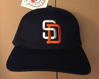 4e0ecc79279 Vtg deadstock San Diego Padres snapback hat cap MLB 90s new era chi 80s ds  nwt vintage gwynn great fit SD snap back
