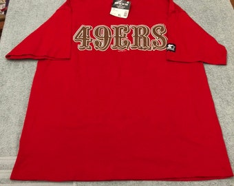 ddd85e97ae4b42 Vintage NWT 1995 deadstock San Francisco 49ers steve young tee shirt jersey  90s jersey giants logo SF niners size xl extra large