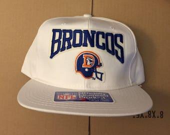 2b99af78018 vintage deadstock denver broncos snapback hat cap 90s jersey logo OG 80s nfl  elway snap back afc super bowl 1997 1998 manning football