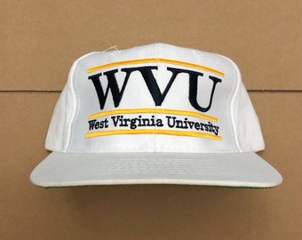 check out 1ed53 b90e0 Vintage WVU Mountaineers snapback hat cap 90s West Virginia University snap  back the game