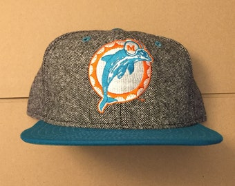 ad1a33dc9cd vtg deadstock miami dolphins new era snapback hat cap 80s 90s jesey logo  marino era fins nfl nwt heat snap back marlins made in usa