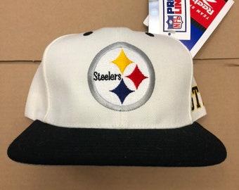 d96d50dda vintage deadstock pittsburgh steelers reebok snapback hat cap 90s jersey  logo shadow nfl ds nwt