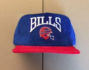 cc3b0dd56fc Vintage Deadstock corduroy buffalo bills snapback hat cap 90s jersey new  era nfl Super Bowl made in usa 80s jim kelly