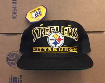 64ca23c55d4 vintage deadstock pittsburgh steelers snapback hat cap 90s jersey logo  brown bell penguins pirates nfl ds nwt bettis the game