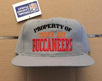 Vintage Deadstock tampa bay buccaneers snapback hat baseball cap 90s jersey  logo nfl 80s football winston TB bucs new era snap back 01e0f6eaf9c4