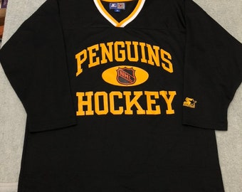 43a995b0730 Vintage Pittsburgh Penguins starter jersey hockey adult m medium 90s era  crosby nhl center ice